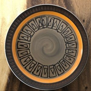 MCM Platter Electra Stoneware brown As is